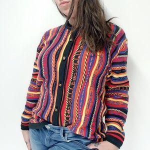 vtg 90s LA DAME AUSTRALIA CoogiCosby Style Sweater
